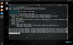 Restarting NGINX web server on Linux