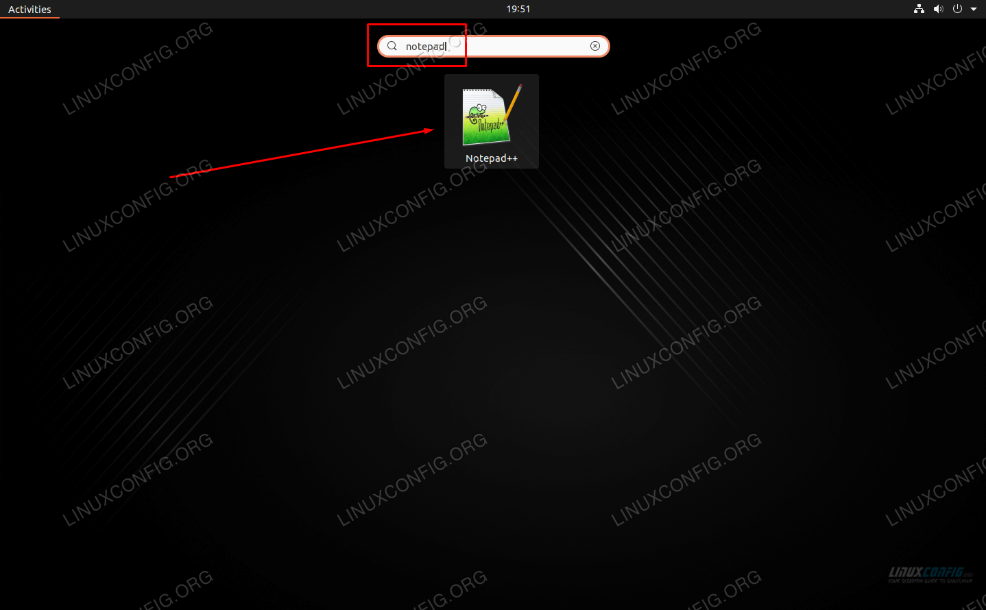 Open Notepad++ from the app launcher or from terminal