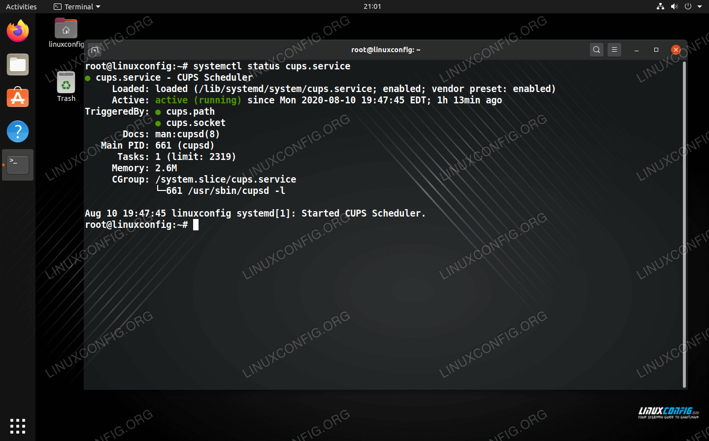 Checking the status of a specific service within systemd