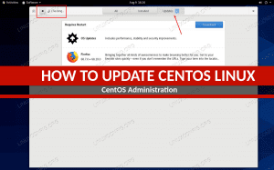 How to update CentOS