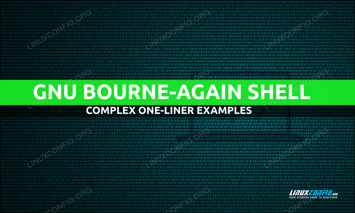 Linux Complex Bash One-Liner Examples