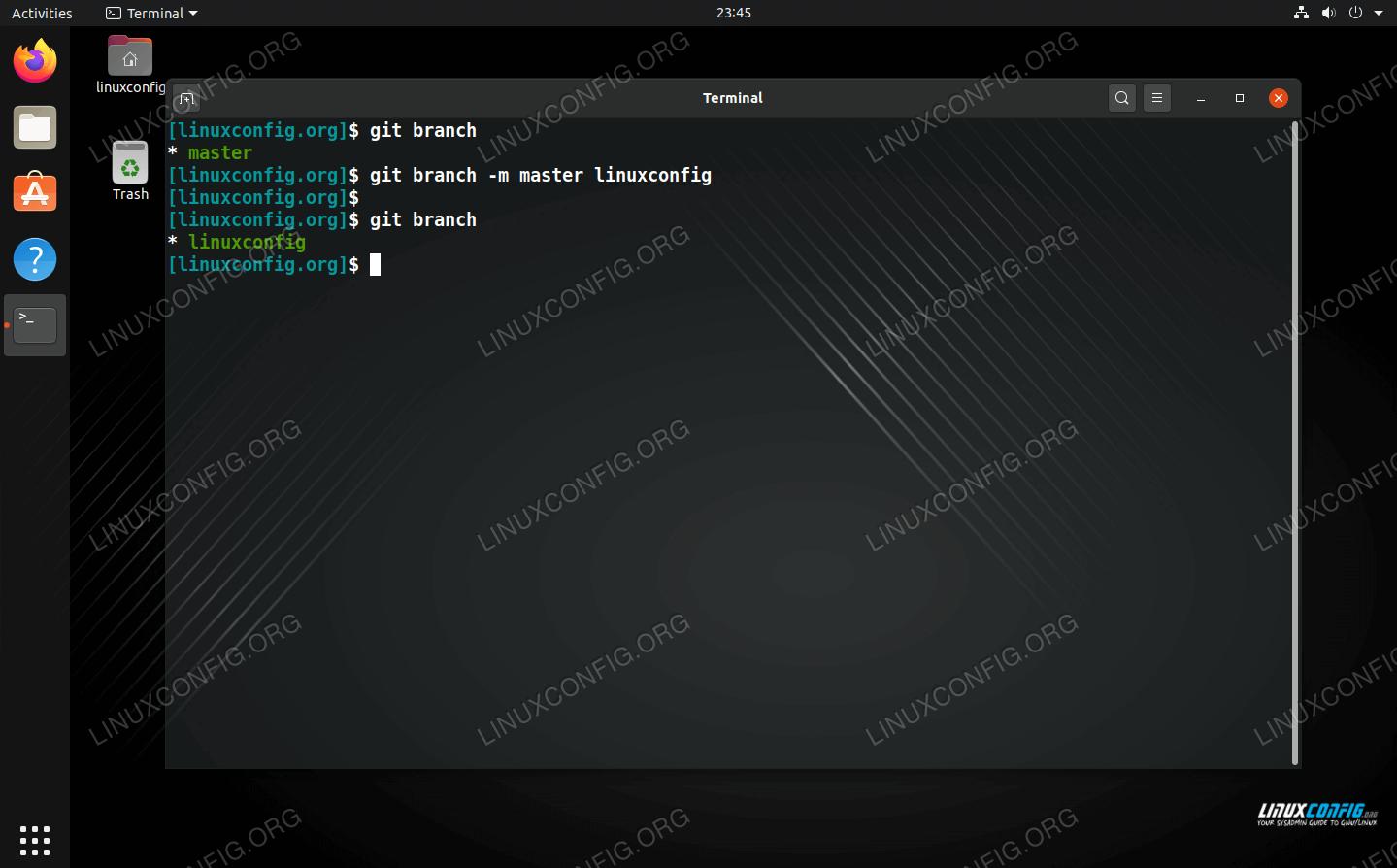 Renaming Git branch