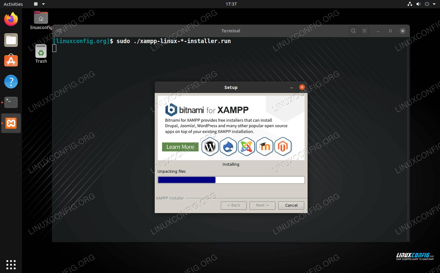 Installing XAMPP on Ubuntu Linux
