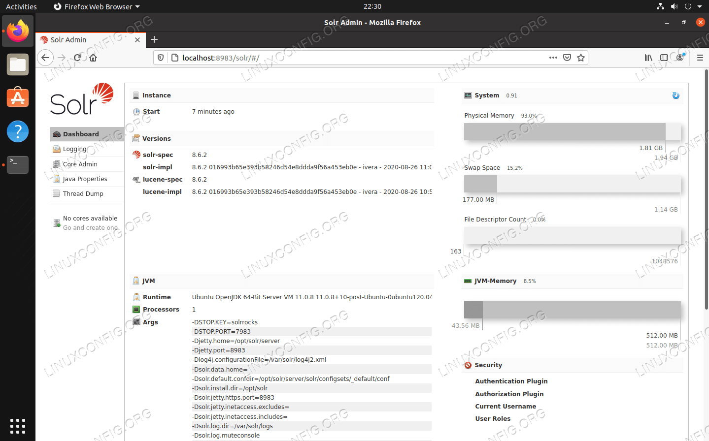 Apache Solr installed on Linux