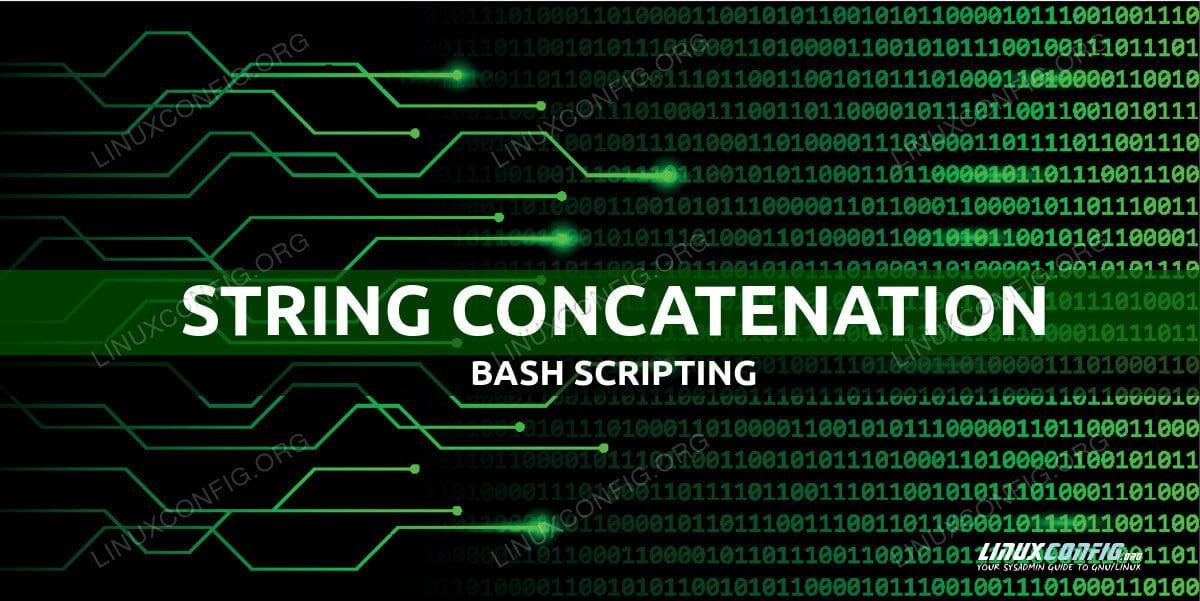 String concatenation in Bash