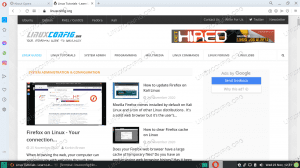 Opera web browser running on Linux
