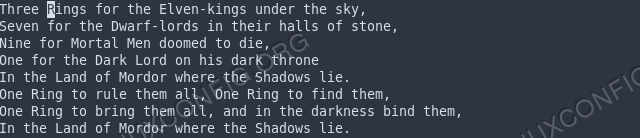 text-example-lotr