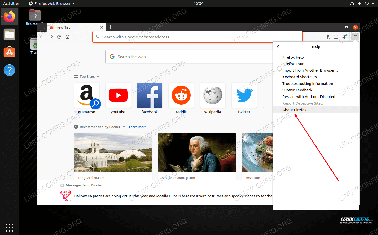 Click About Firefox