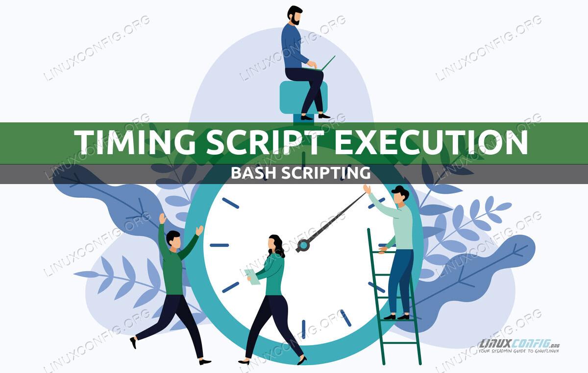 Timing bash script execution