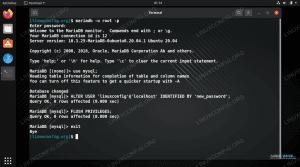 Changing MariaDB user password