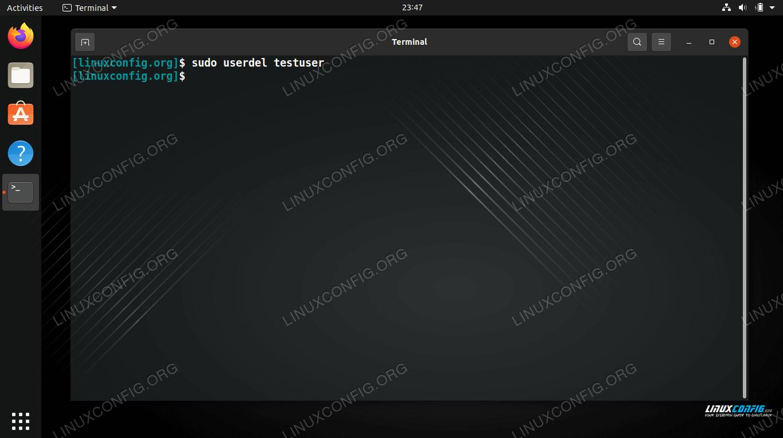 How to delete a user on Ubuntu