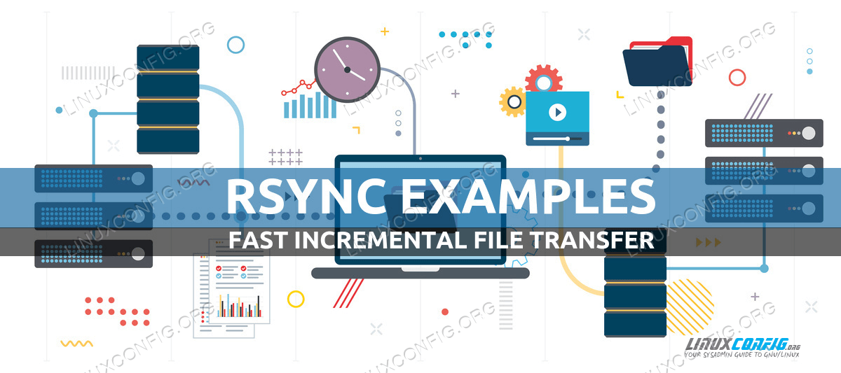 Rsync examples in Linux