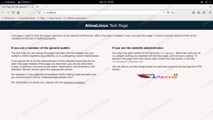 Installing Apache on AlmaLinux