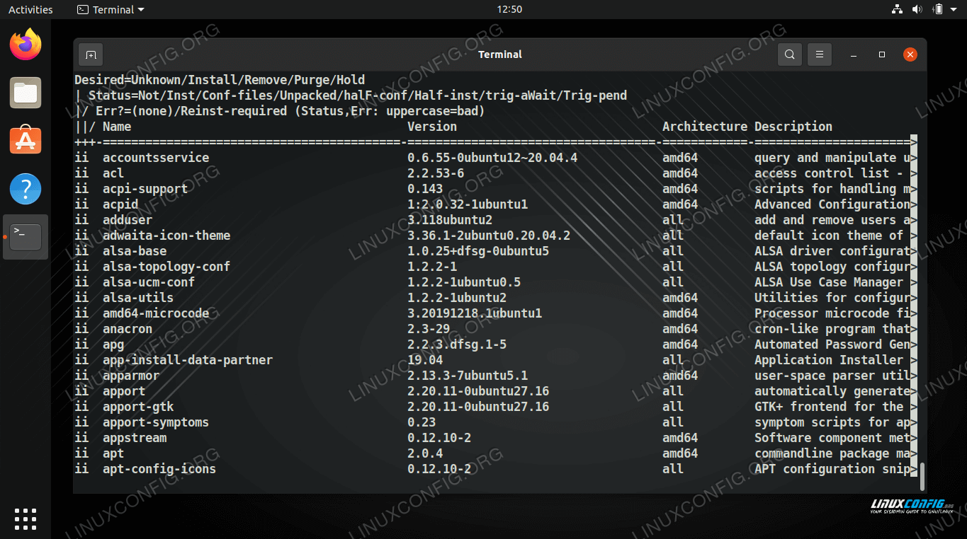 Using dpkg command on Linux