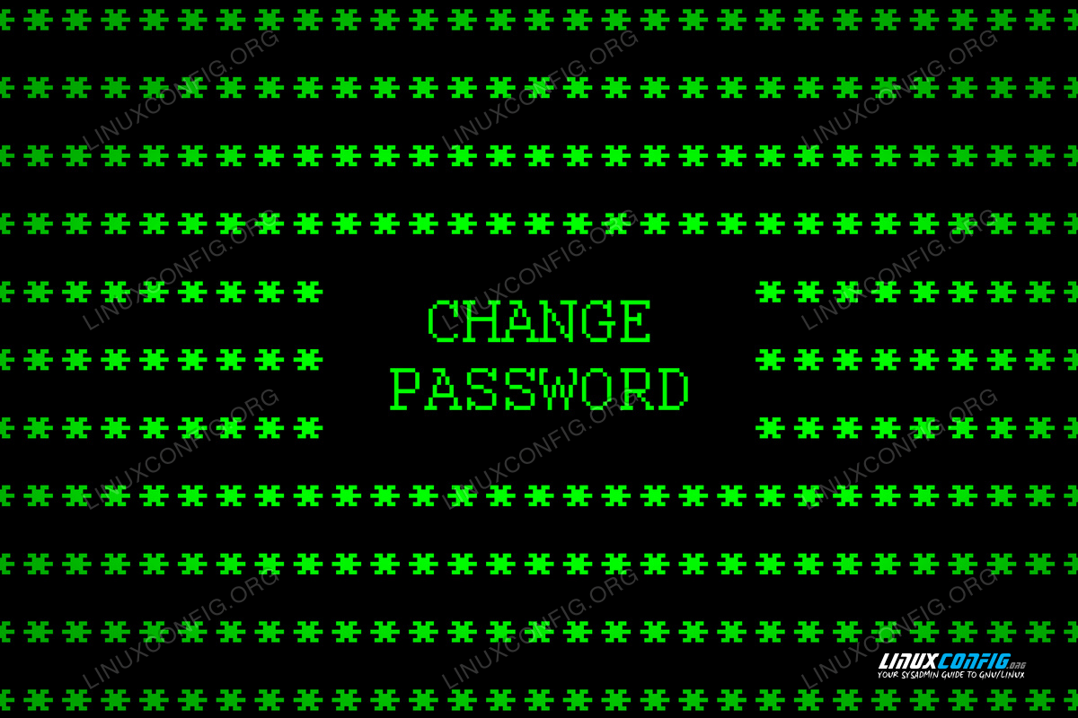 How to change password and account expiry