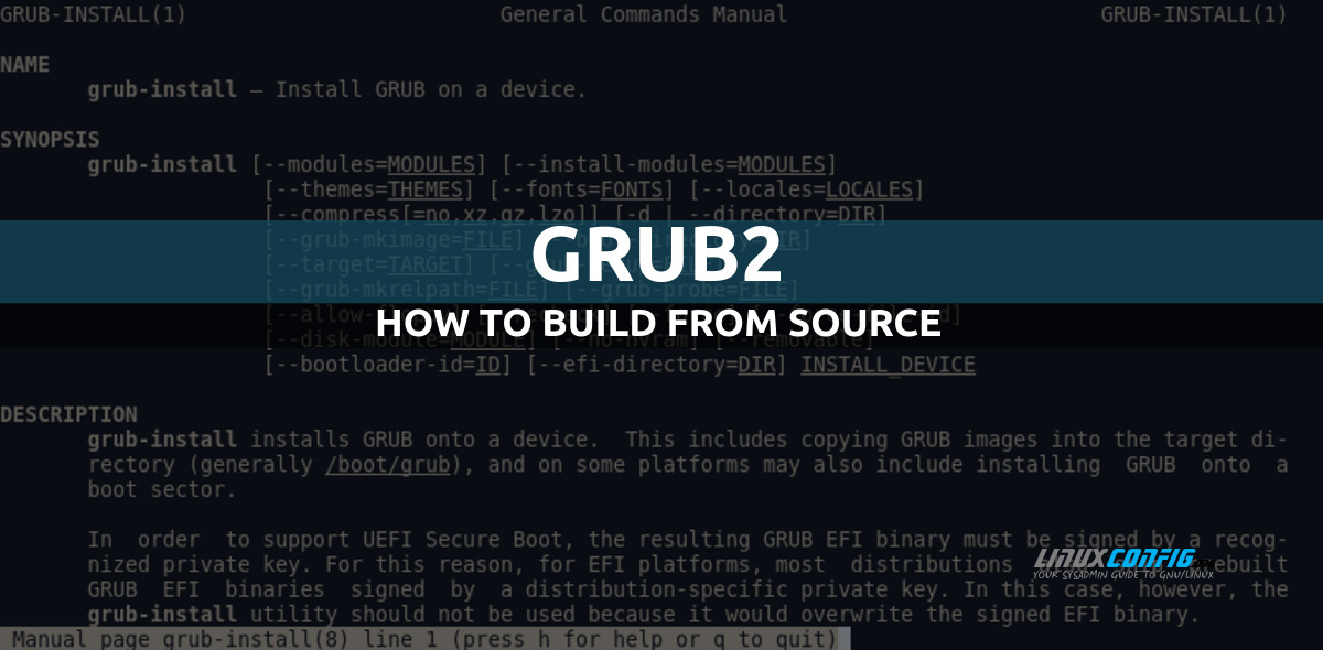 GRUB Compile from a source code