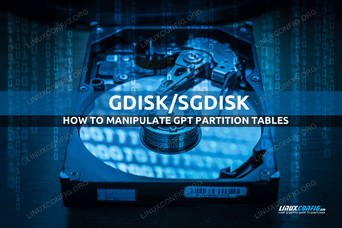 How to manipulate GPT partition tables with gdisk and sgdisk
