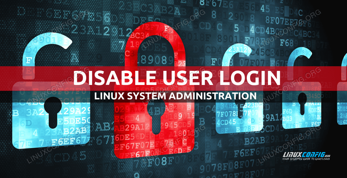 How to disable user login with Linux nologin